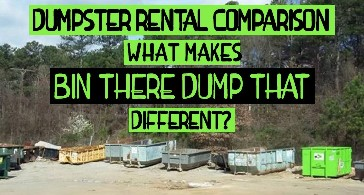 Dumpster Rental Comparison What Makes Us Different