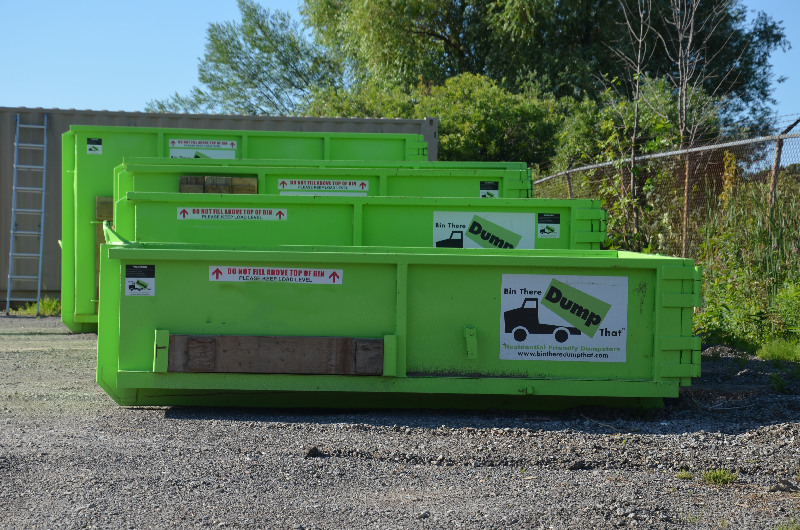 dumpster sizes available from Bin There Dump That